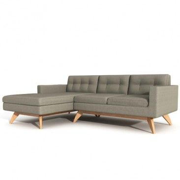 Luna 90-Inch Sofa with Chaise & TrueModern Sofa with Chaise | YLiving
