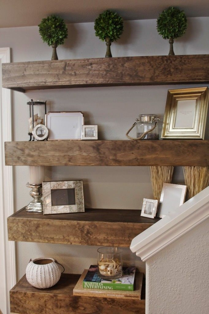 Simple Diy Floating Shelves Tutorial Decor Ideas Simply Organized Diy Living Room Decor Floating Shelves Diy Shelf Decor Living Room #rustic #shelves #for #living #room