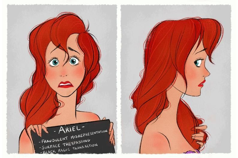 Princess Mugshots - Ariel