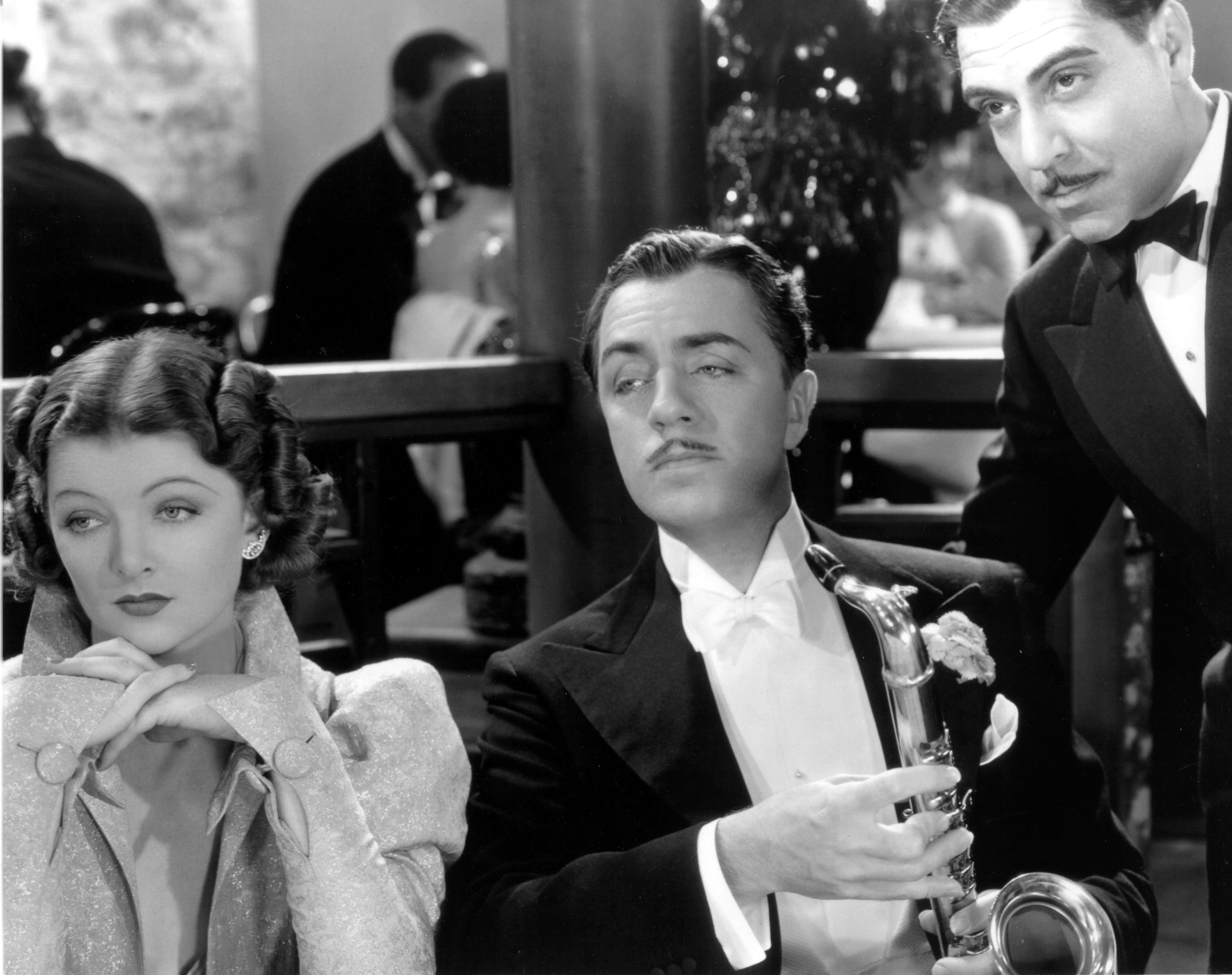 Myrna Loy, William Powell and Joseph Calleia AFTER THE
