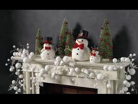 Como Decorar Repisas, Armarios o Chimeneas Navideñas - YouTube