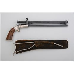 J stevens tip up single shot target pistol with scope skeleton j stevens tip up single shot target pistol with scope skeleton stock and leather sheath for the thecheapjerseys Image collections