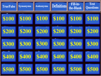Wordly Wise Book 5 Jeopardy Review Game for Lessons 1-16 | Moxie