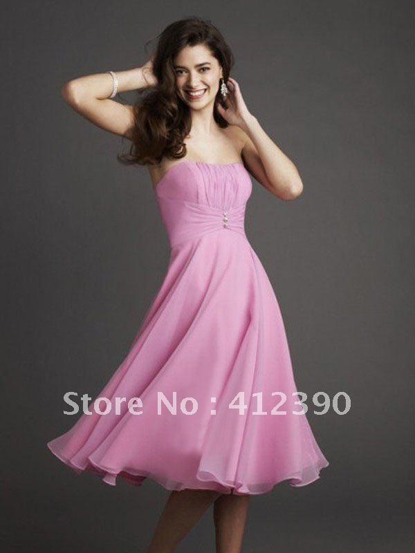 Free shipping New style chiffon  A-line knee length bridesmaid dress  ECBR259 on AliExpress.com. 10% off $71.99