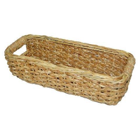 Threshold™ Seagrass Khaki Rectangle Decorative Basket