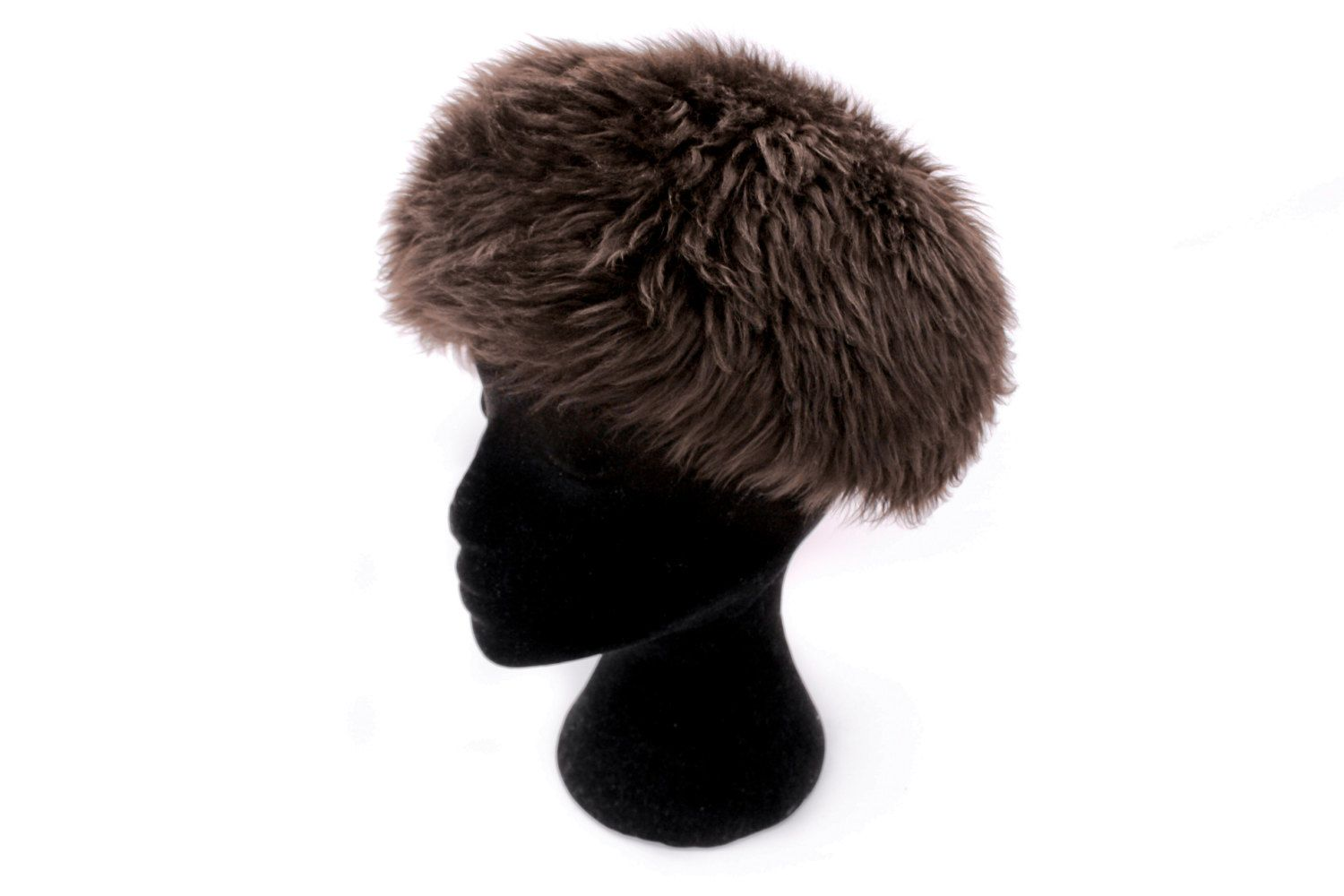 Vintage 70s Winter Hat • Sheepskin Hat • Shearling Hat • Real Fur Hat •  Shaggy Espresso Brown Hat • Russian Cossack Style • Womens Hats by Venelle  on Etsy 200a5d8c6d24
