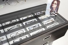 Optical Displays - Frame Tray Display | Inset frame trays ar… | Flickr