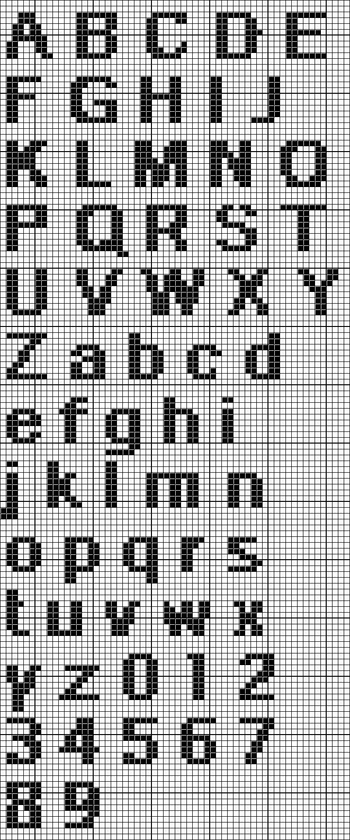 Image result for 5 high needlepoint alphabet capital