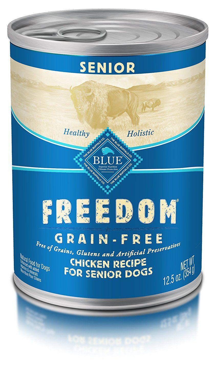 Blue buffalo freedom grain free wet senior dog food
