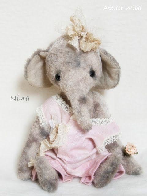 Atelier Wiba Bär   olifantjes one of a kind   Pinterest   Bären ...