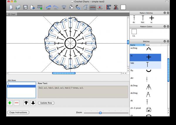 Crochet Pattern Program : Stitch Works Software - great chart making app for crochet ...