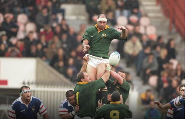 Mark Andrew Lors Du France Afrique Du Sud De 1996 Au Parc Des Princes Victoire Des Boks 13 12 Rugby Union Rugby Sports