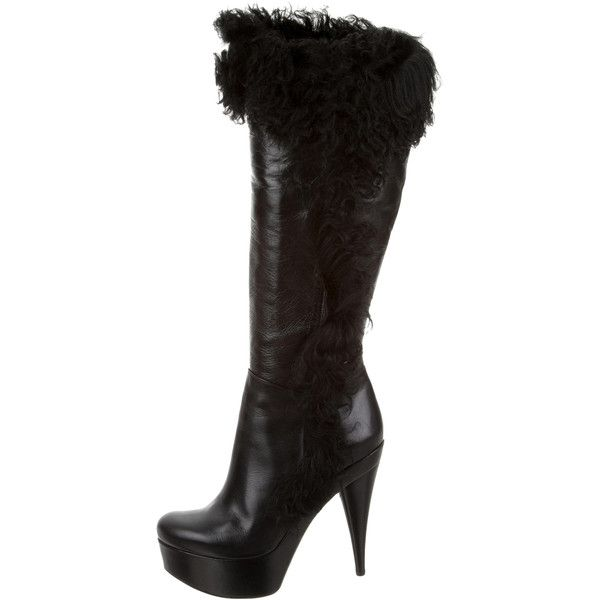 Pre-owned - Black Leather Boots Fendi rOsqMcf