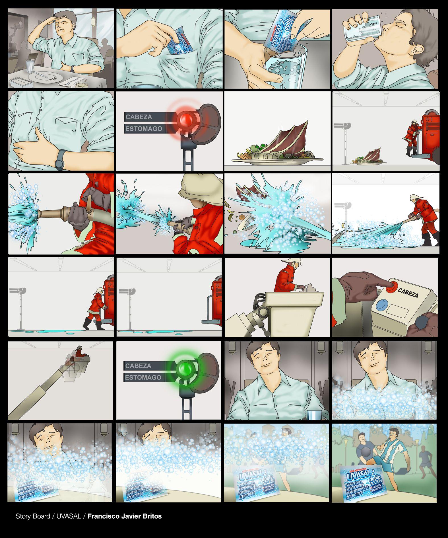 storyboard for advertising UVASAL | Storyboards | Pinterest