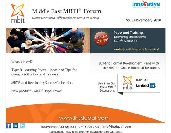 Email Newsletter Design For Mbti Dubai  From  Oranges