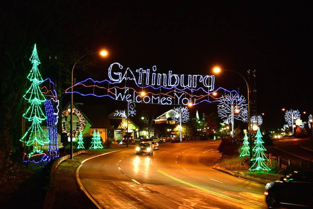 The Christmas Lights Are On In The Smoky Mountains Gatlinburg Gatlinburg Vacation Smoky Mountains Vacation