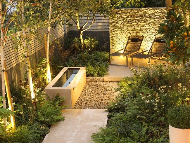 Dry Stone Wall Water Tough Small Garden Daniel Shea Outdoor
