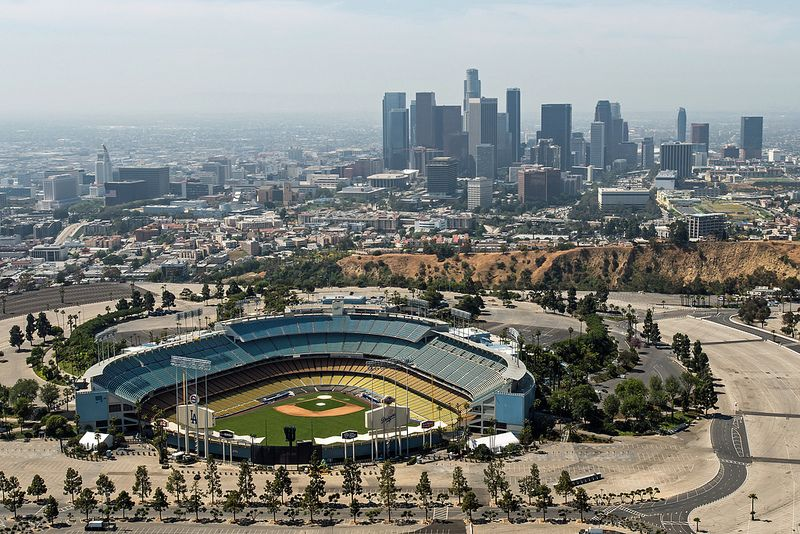 Dodger Stadium And Downtown Dodger Stadium Stadium Helicopter Tour