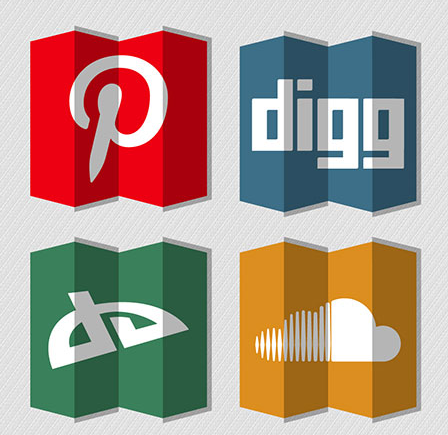 This free set of social networking icons has a 3D design
