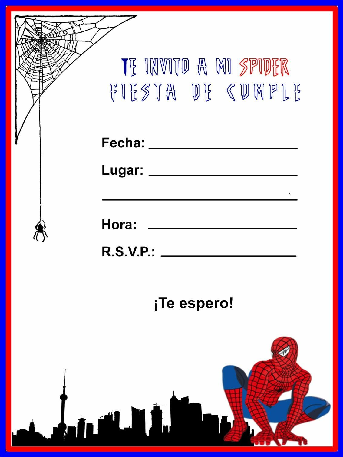 Pin En Fiesta Spiderman