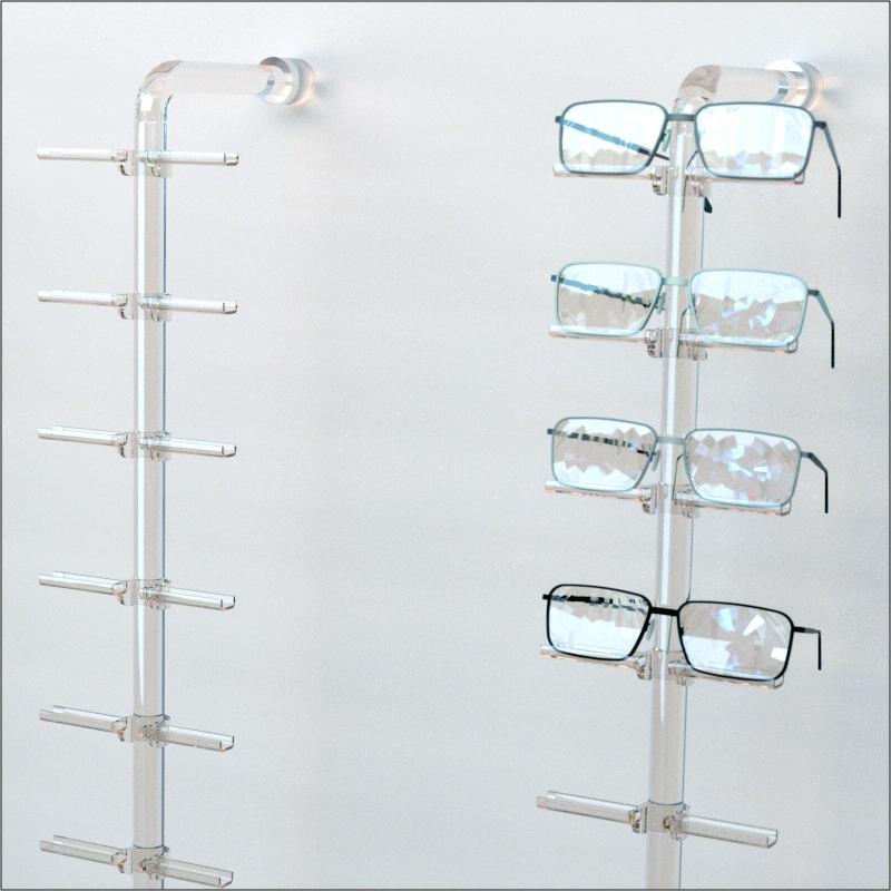 f5910067ea5f DWY-FL  Acrylic Wall Mount Eyewear   Optical Display Rod W 10