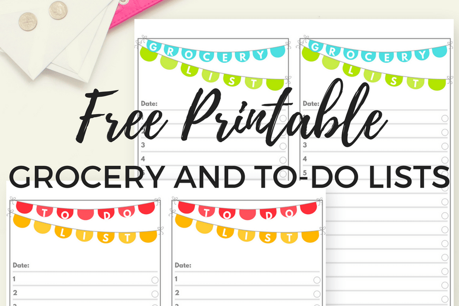 free printable to do list and grocery list chore chart or shopping