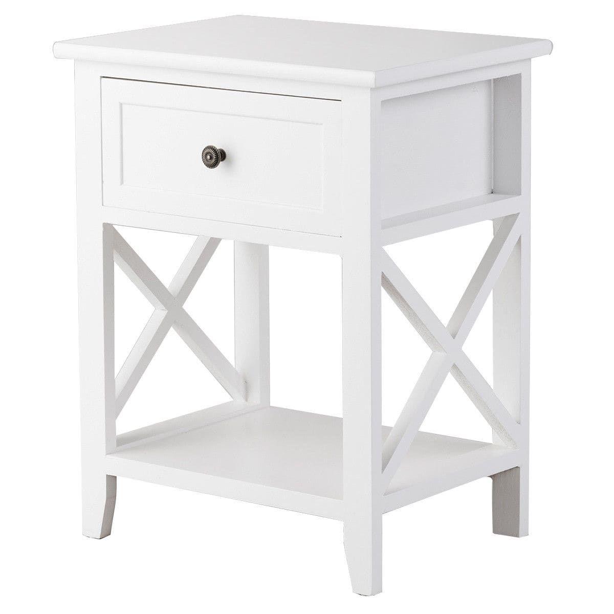 Best Costway End Bedside Table Nightstand Drawer Storage Room 640 x 480
