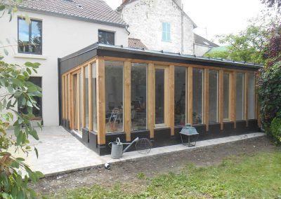 toit bac acier faible pente extension maison pinterest. Black Bedroom Furniture Sets. Home Design Ideas