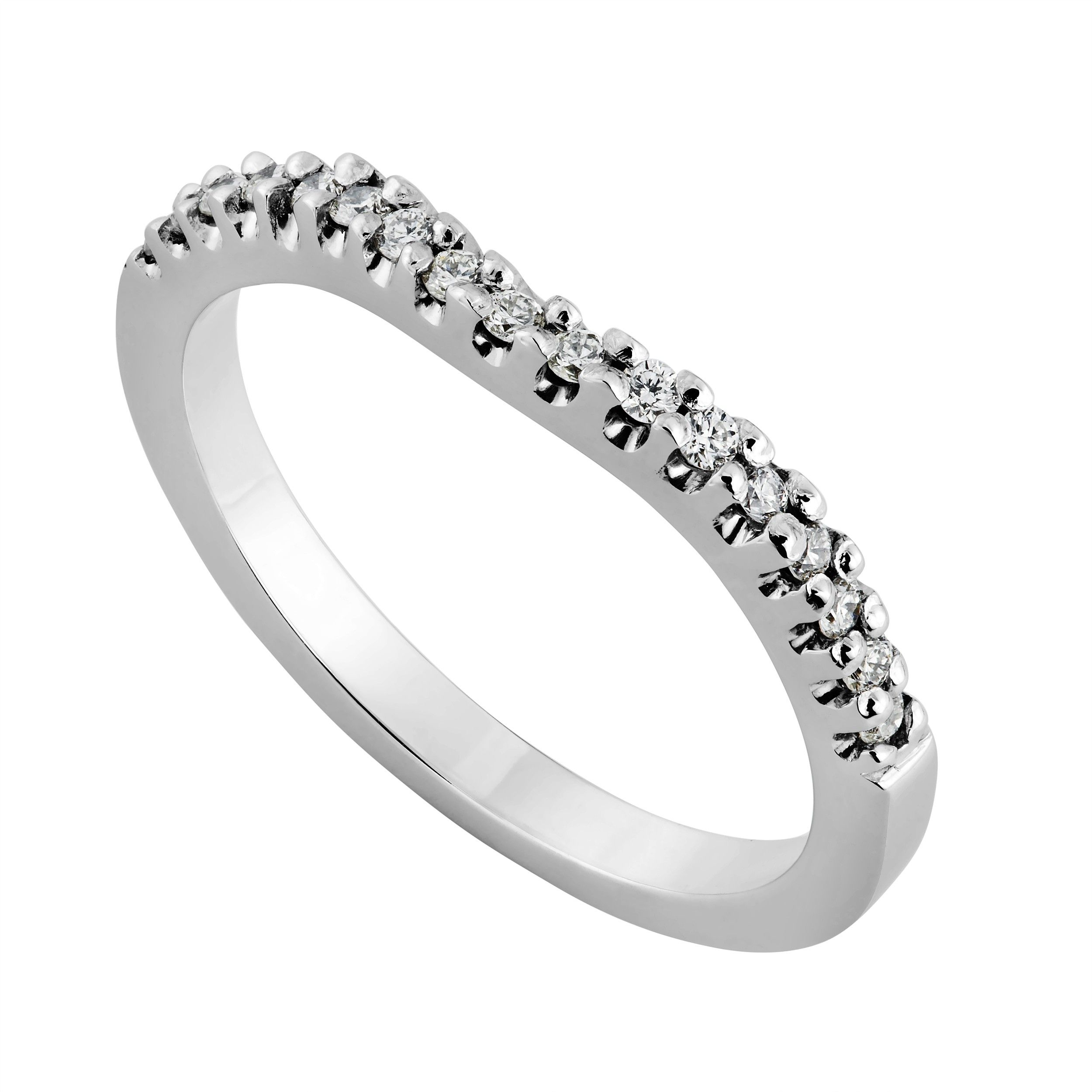 Ladies White Gold Carat Diamond Shaped Wedding Ring From Fraser Hart Jewellers