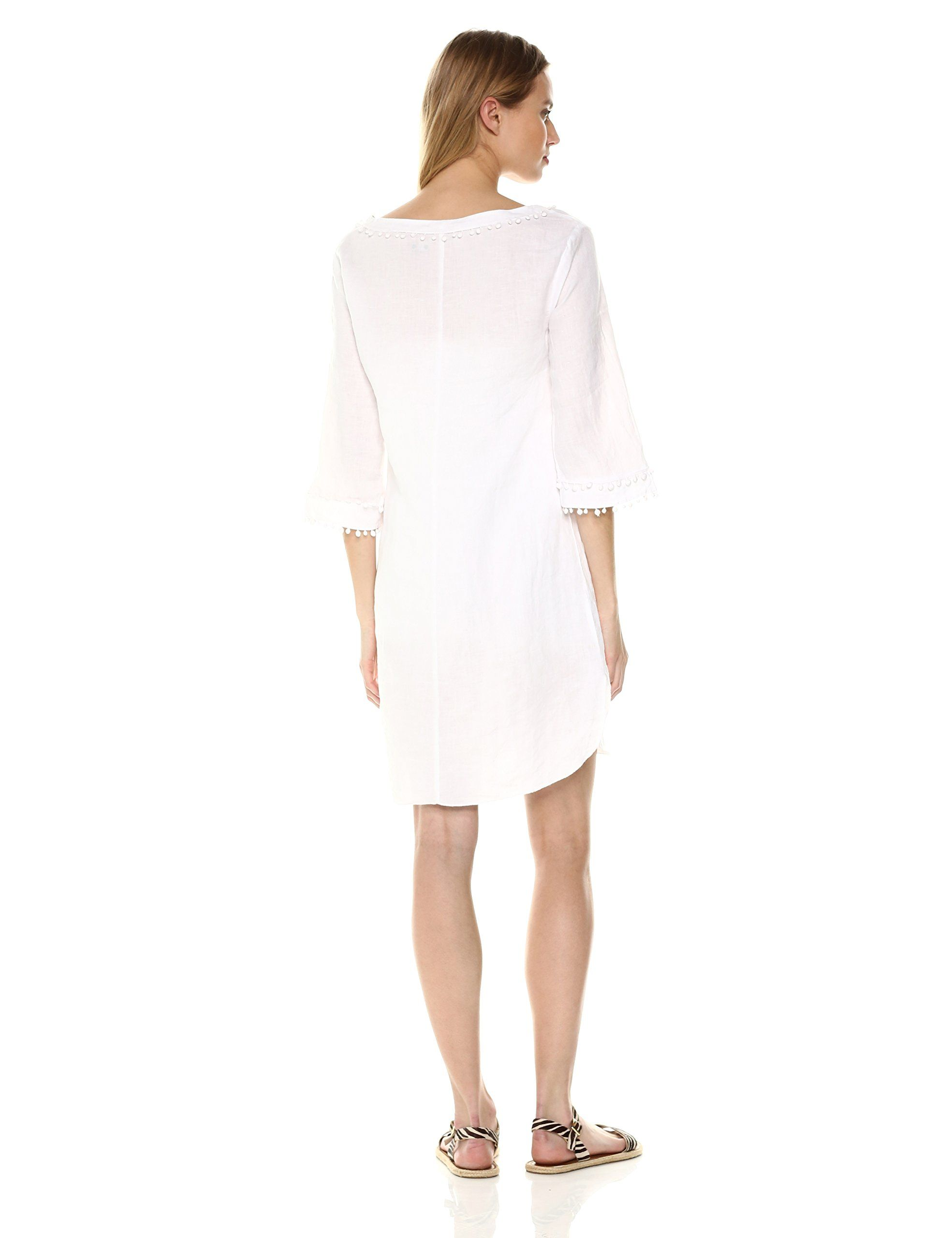 691aad440c Three Dots Womens Woven Linen Short Loose Tunic Dress White Medium -- You  can get more details by clicking on the image-affiliate link.  dresses