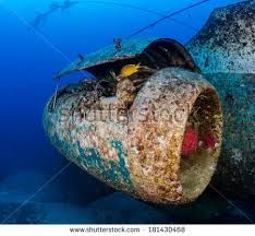 Image result for photos of aircraft underwater