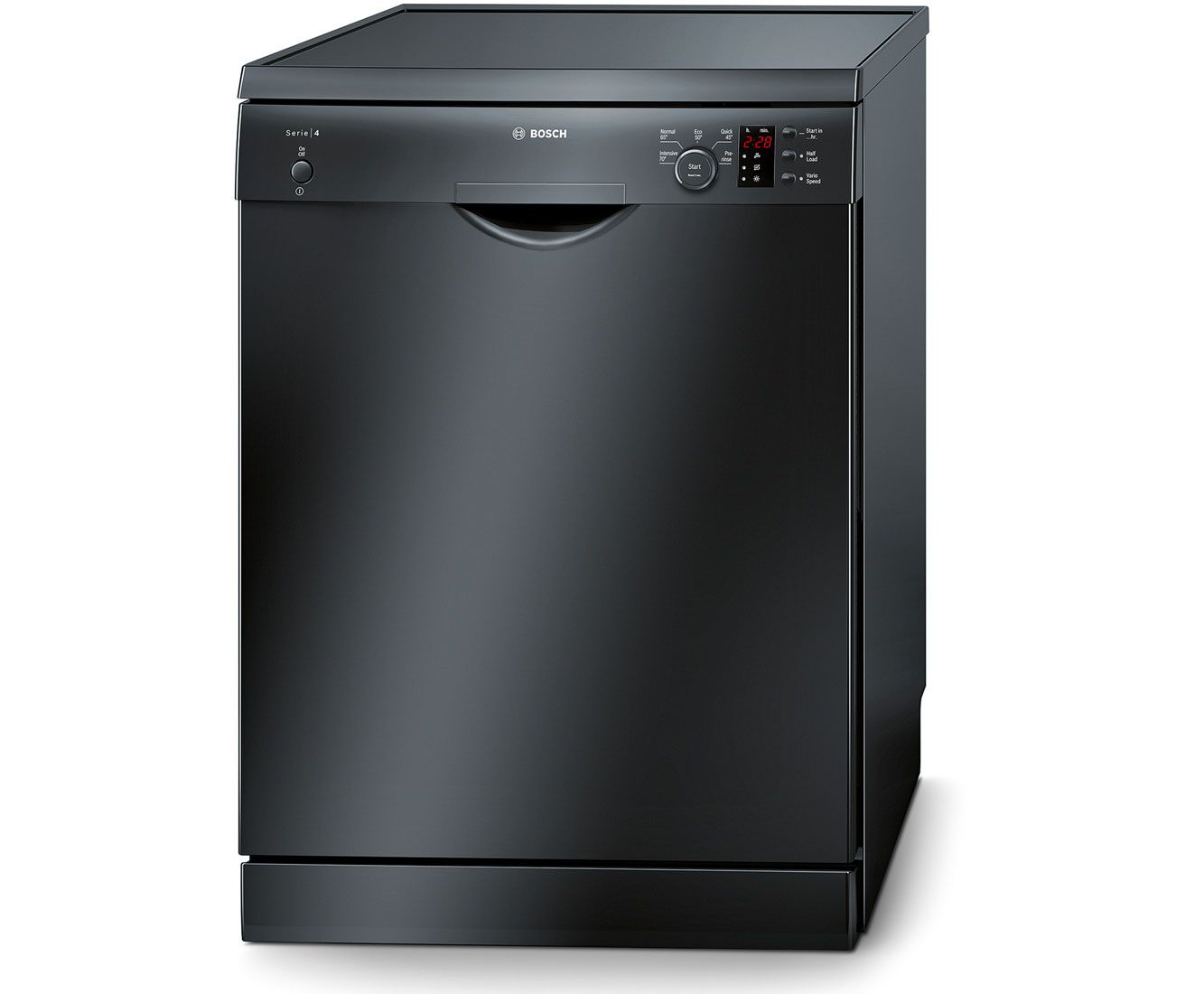Bosch Serie 4 Sms50c26uk Standard Dishwasher Black Black