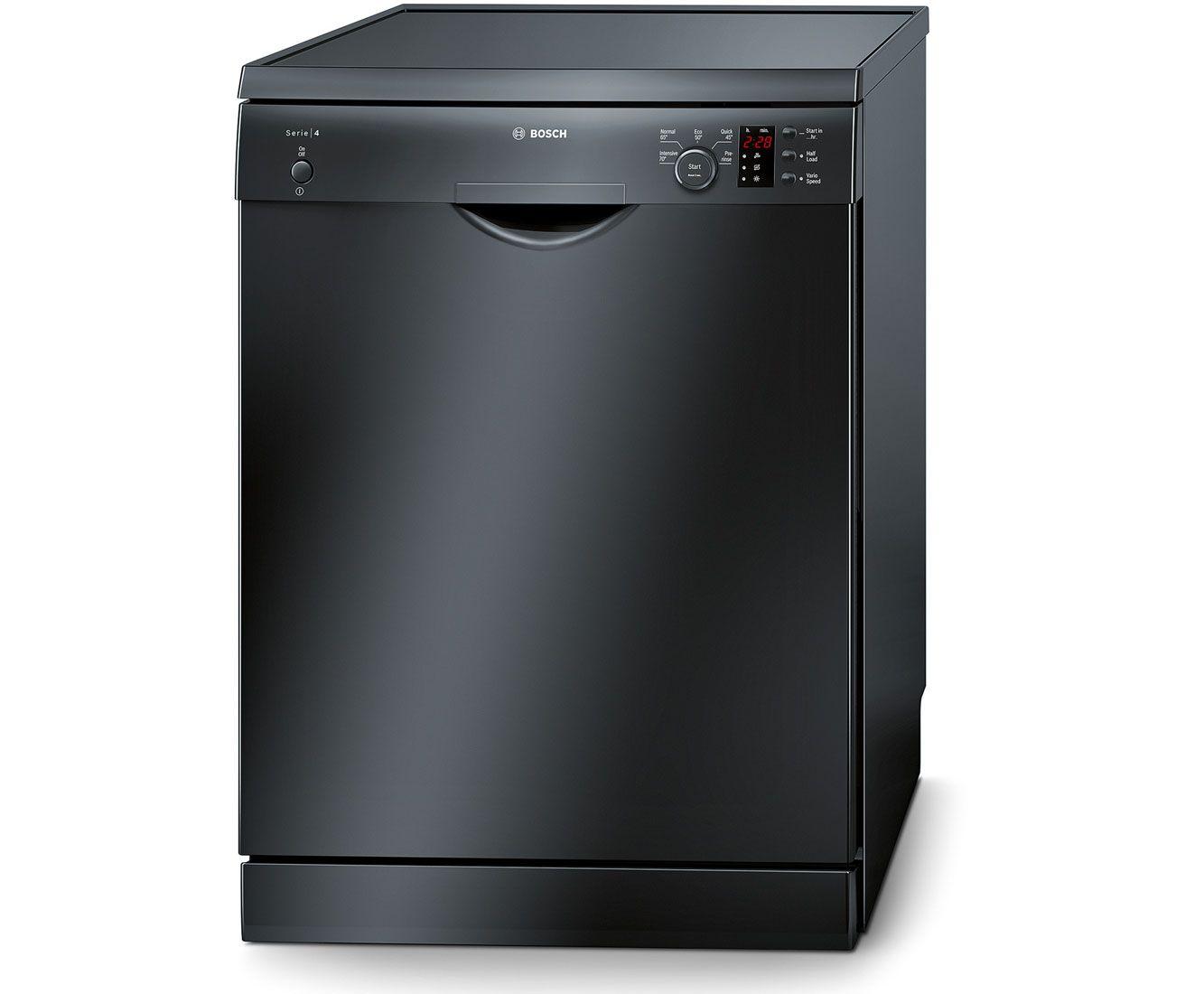 Bosch Serie 4 SMS50C26UK Standard Dishwasher Black
