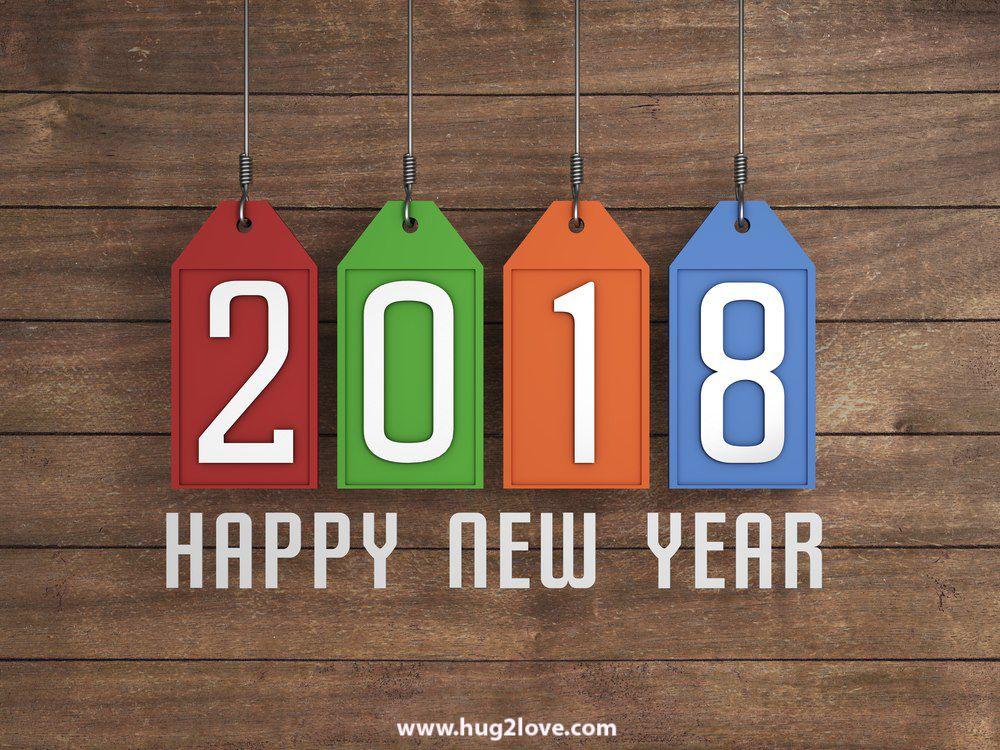 awesome new year 2018 wishing background photo