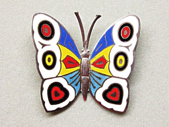 Siam Sterling Enamel Butterfly Pin Brooch by COBAYLEY on Etsy, $38.00  https://www.etsy.com/listing/170638949/siam-sterling-enamel-butterfly-pin  #freeshipping #Etsy #Cobayley