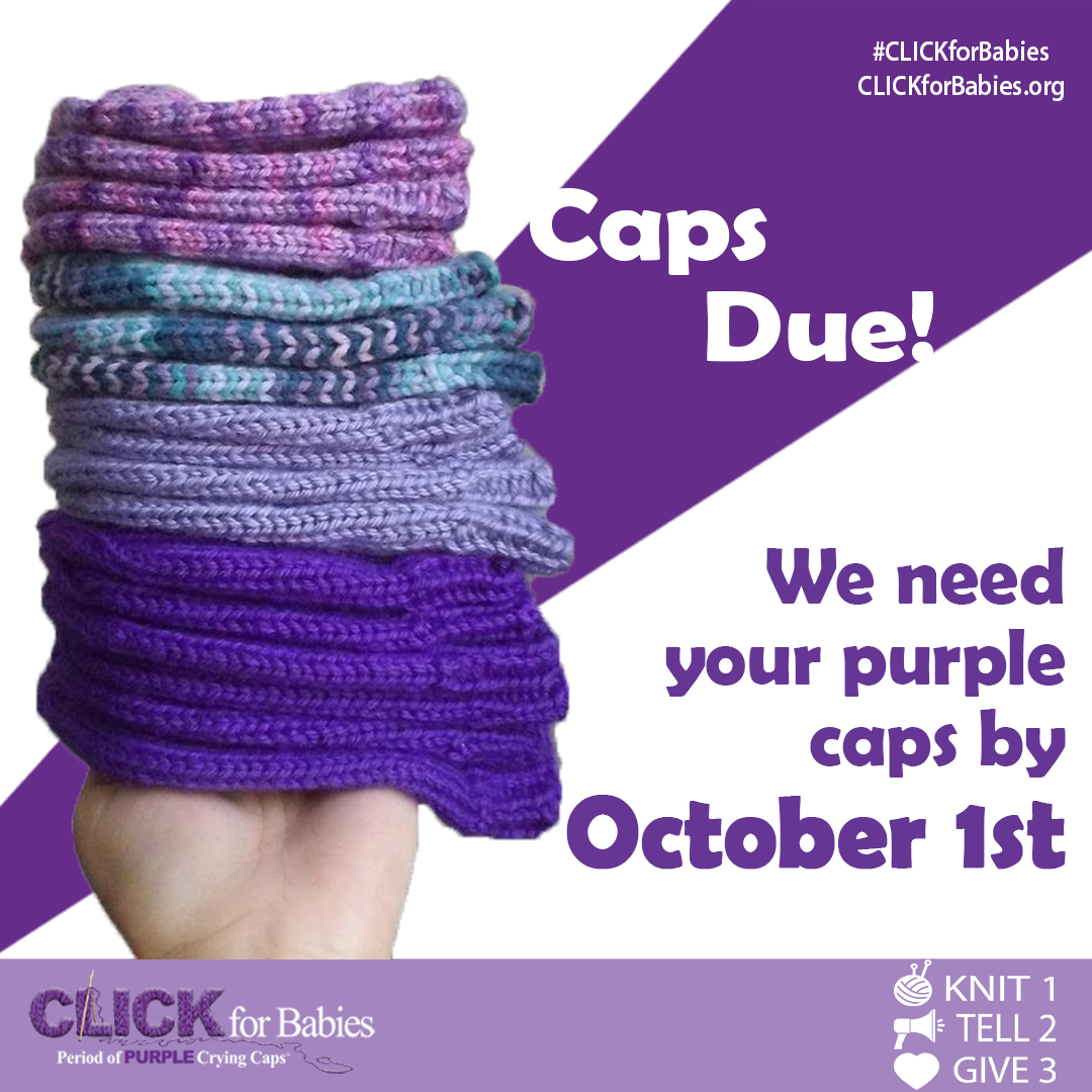 It S Nearly Time To Put Down Your Knitting Needles All Clickforbabies Caps Are Due By Octob Baby Hat Knitting Pattern Hat Knitting Patterns Baby Hat Patterns