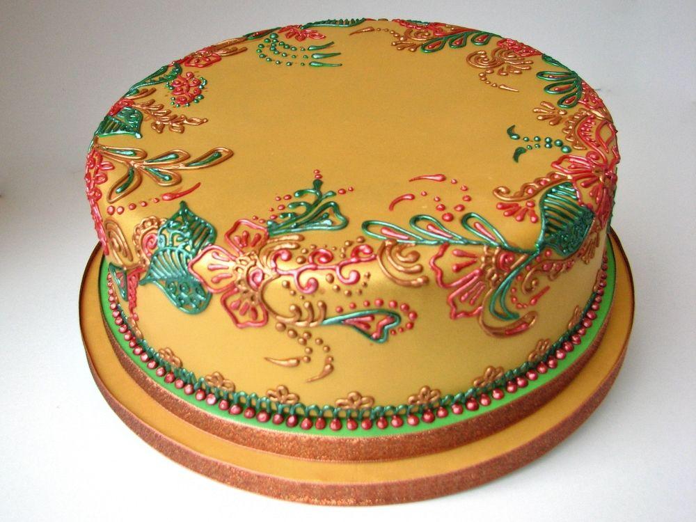 Mehndi Cushion Cake : Google hu blank royal icing cakes and