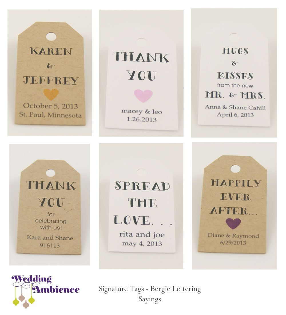 Favor Tag - Kraft Paper Wedding Favor Tag - Personalized Tag, Gift ...