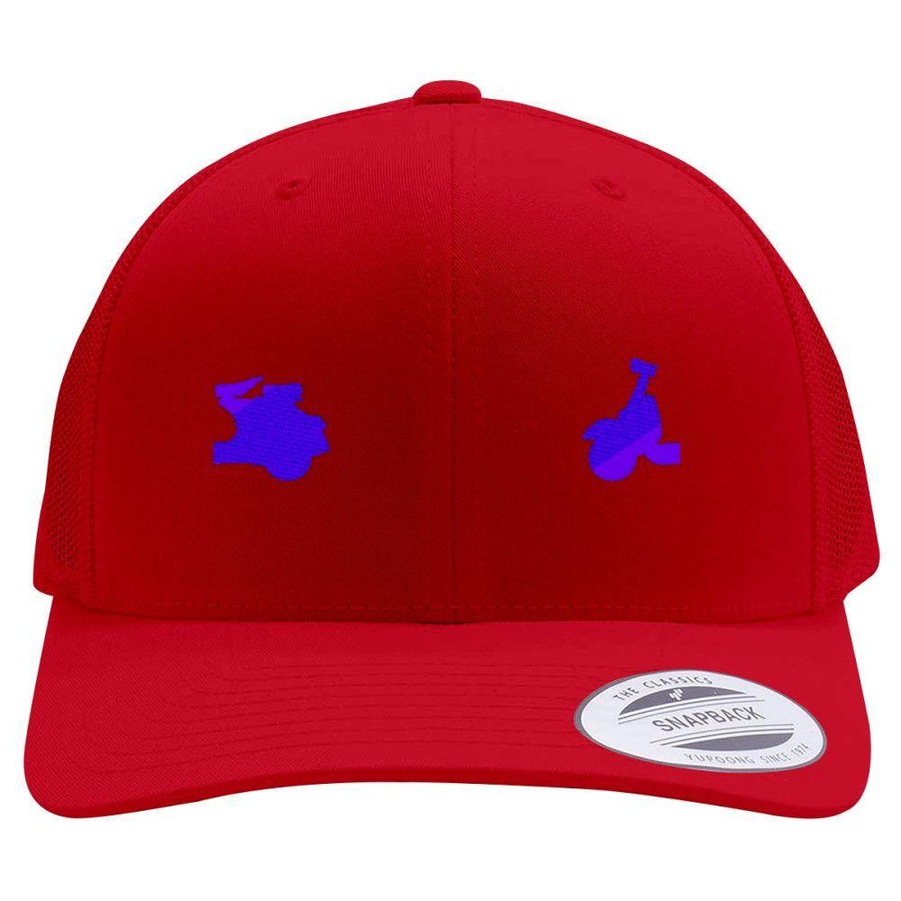 Vespa Embroidered Retro Embroidered Trucker Hat
