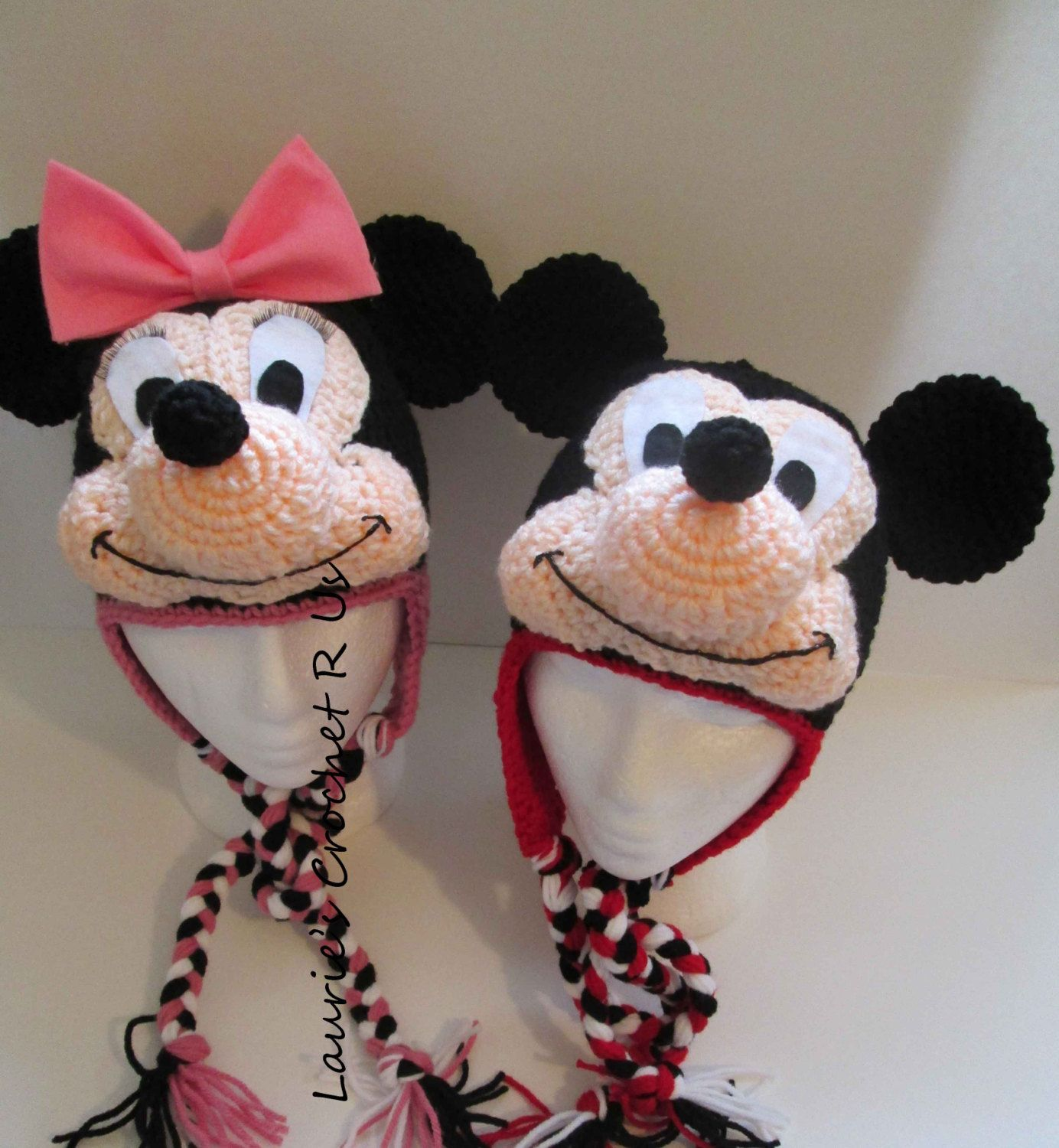 Pdfquality handmand crochet minnie mickey mouse inspired quality handmand crochet minnie mickey mouse inspired hat bankloansurffo Choice Image