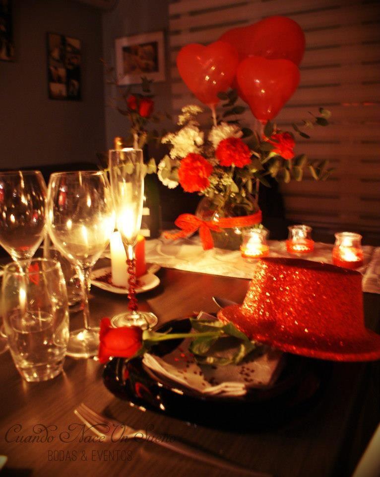 Cena de san valentin san valentine romantic eventos for Decoracion san valentin pinterest