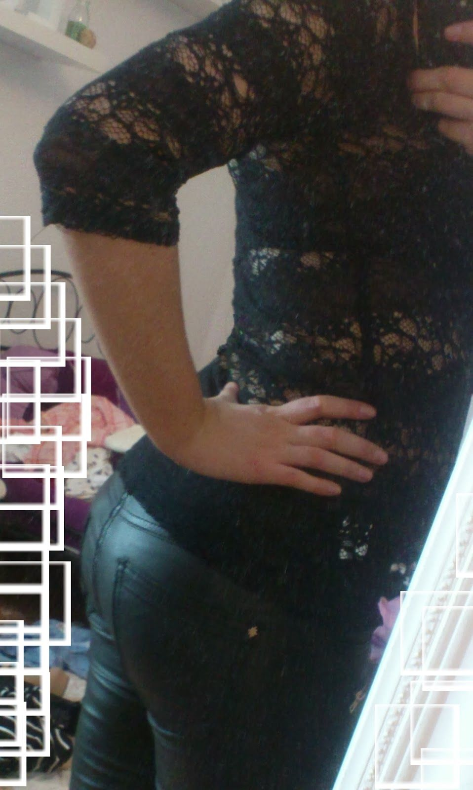 Leather and Lace, Black  http://lucciola-test.blogspot.de/2014/03/outfit-leather-and-lace.html