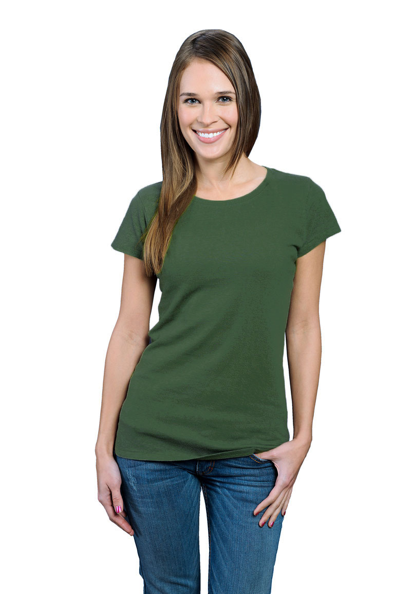 8a382c825a4a7e moss green ONNO bamboo + organic cotton t-shirt for women. Be like the  meadows with this green tee. A great color for green or hazel eyes.