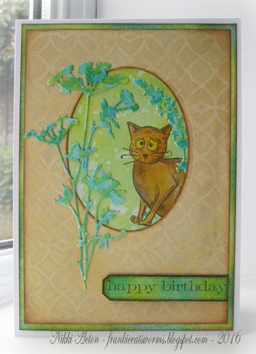 Addicted to Art: Wildflower birthday card