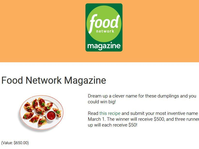 Enter the food network magazine name this dish sweepstakes for your enter the food network magazine name this dish sweepstakes for your chance to win 500 forumfinder Images