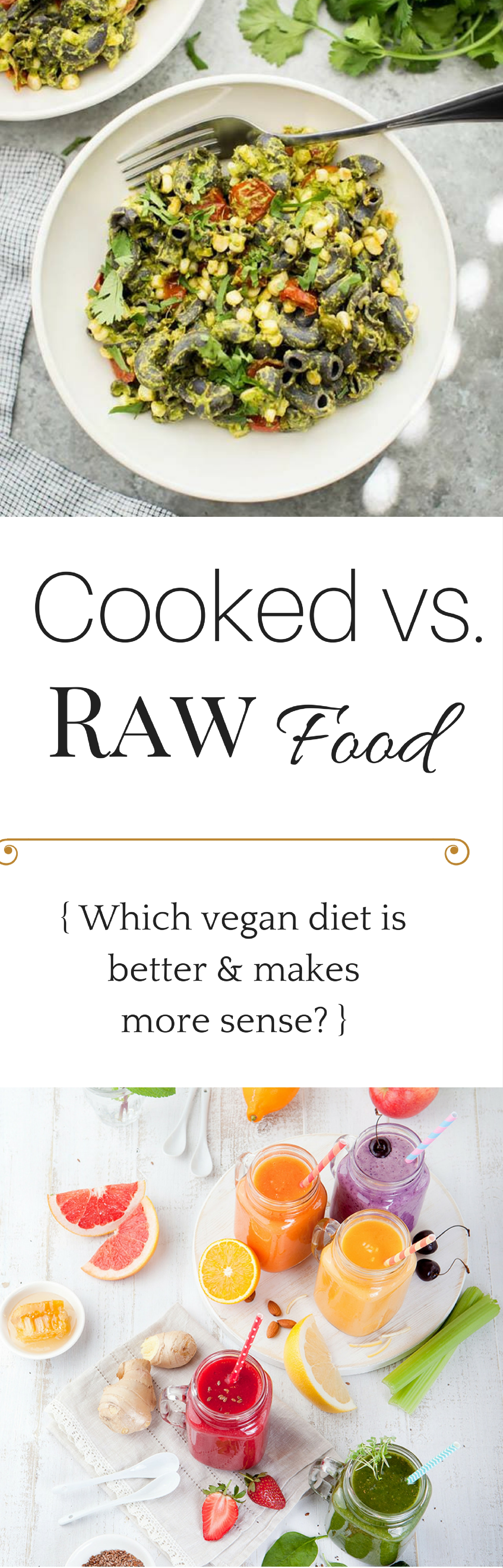 Which #vegan diet is better - raw or cooked? And should you do a cleanse to get healthier or skinnier? Let's take a look at what science has to say.