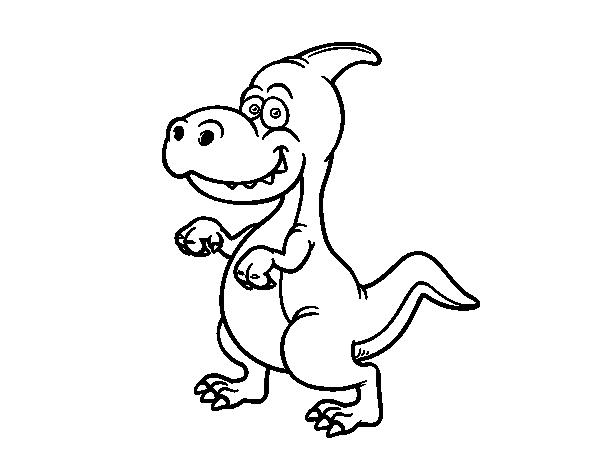 dibujo de parasaurolophus para colorear color books