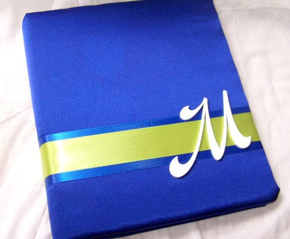 Royal Blue And Lime Green Wedding Invitations: Wedding Guest Book Royal Blue And Lime Green (change To
