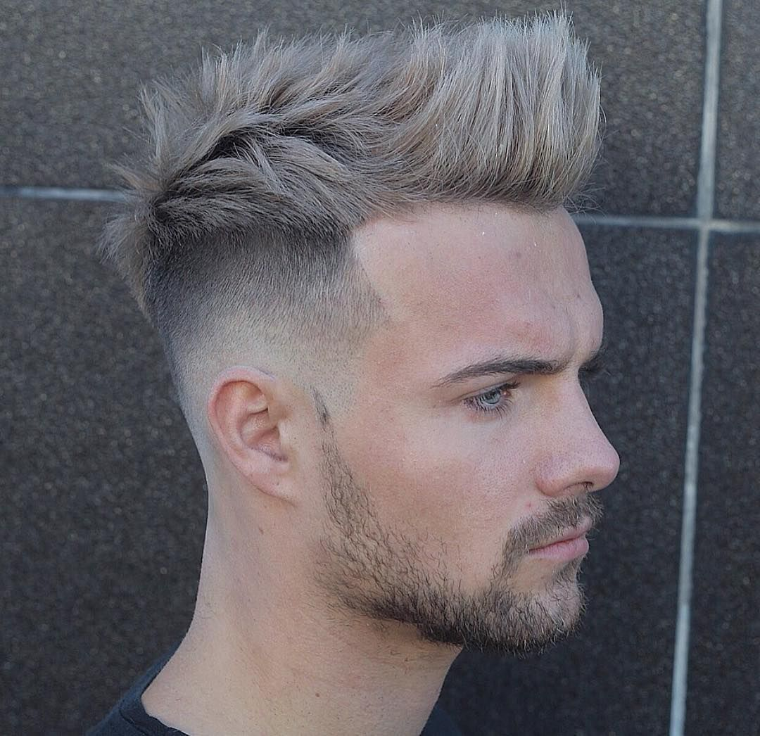 Grey Brush-Up Hairstyles | brush-up-hairstyles-mens/ in 2019 | Quiff
