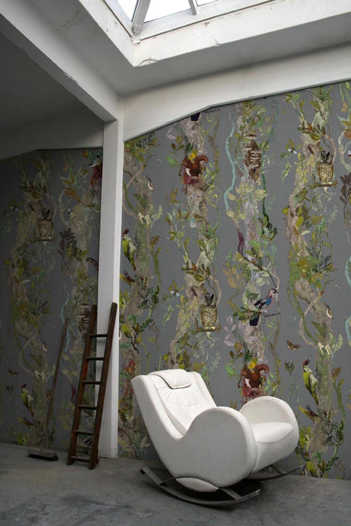 Timorous Beasties Wallcoverings  Indie Wood